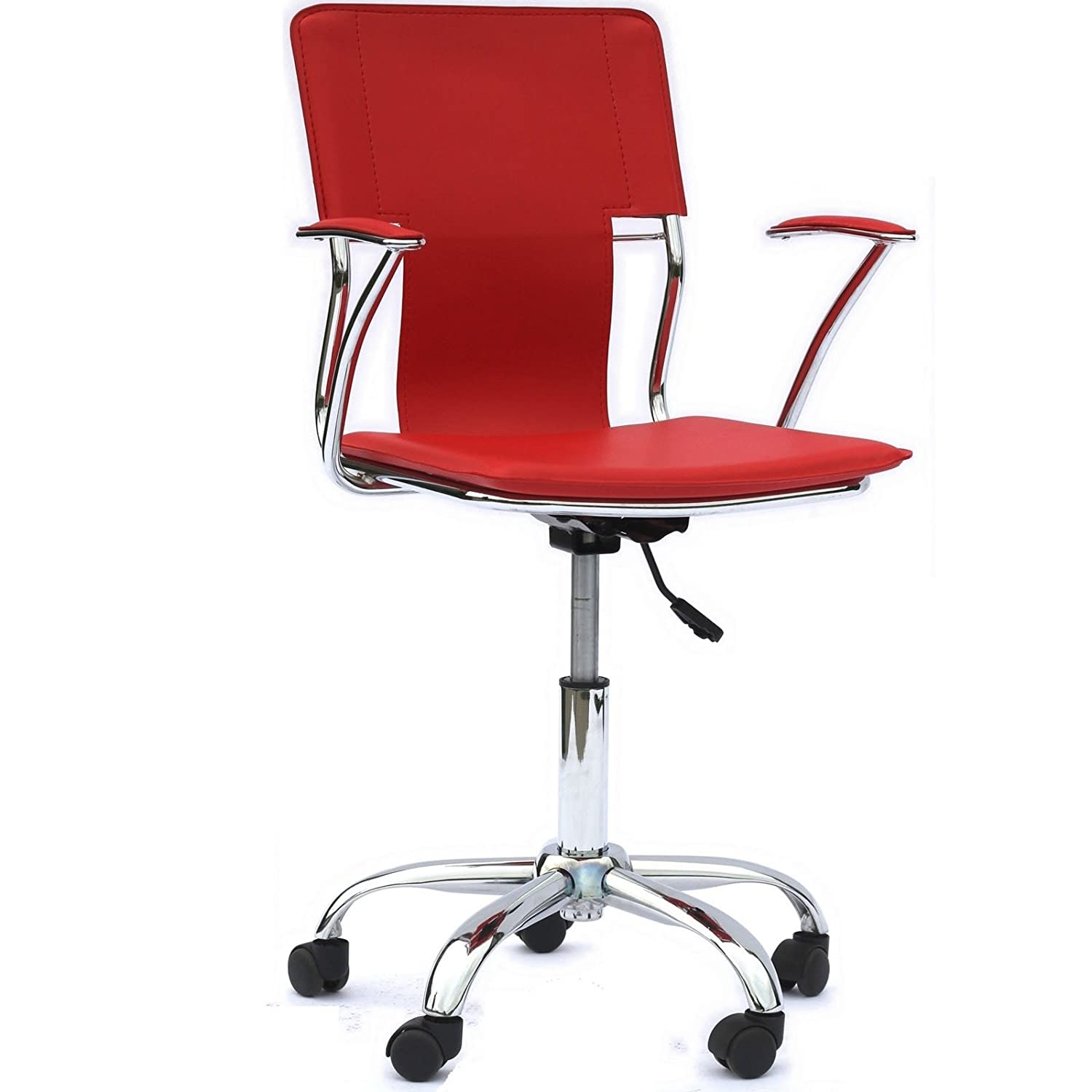 Amazon Modway Studio fice Chair in Red Vinyl Kitchen & Dining
