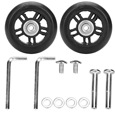 VGEBY 2Pcs Suitcase Replacement Wheels, Inline Outdoor Rubber Luggage Skate Travel Suitcase Wheel with Repair Kit Axles Deluxe(76mm) : Sports & Outdoors [5Bkhe1103316]