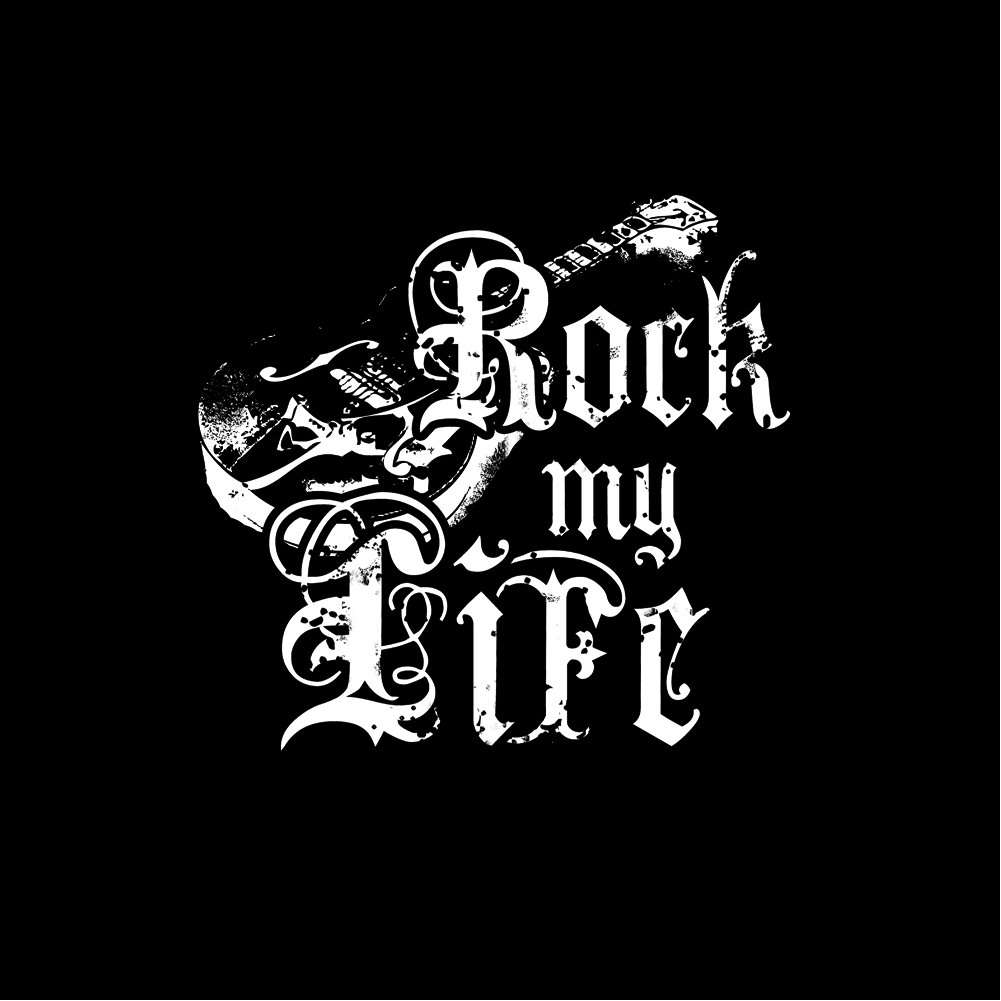 Amazon.com: Makaya Vintage Music Mens T-Shirt - Rock My Life - Guitar: Clothing