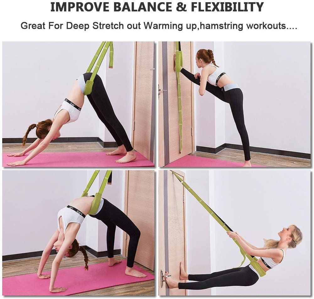 Gymnastics Door Flexibility Stretch Strap Cheerleading faddy-1 Back Bend Assist Trainer Improve Leg Waist and Back Flexibility for Dancing Pilates Yoga Fitness Stretching Strap Ballet