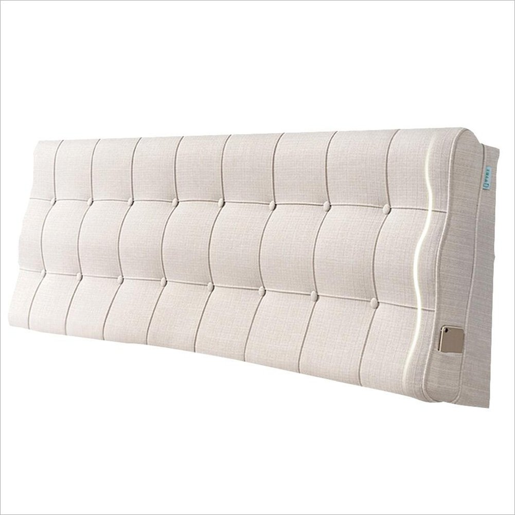 AIDELAI Backrest- Bedside Cushion, Back Cushion, Bedroom Back, Soft Package, Pure Color, 4 Colors That can be Cleaned. (Color : 1#with Headboard, Size : 90x60x10CM)