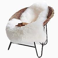 Cleana Arts nórdica Premium Style de imitación de piel de oveja Alfombra Alfombra con super mullido piel gruesa, encaja perfectamente en la sala de estar / sitio de la cama o como decoración desván (lvory blanco)