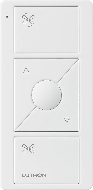 Lutron Pico Remote for Caseta Wireless Smart Fan Speed Control, PJ2-3BRL-WH-F01R, White