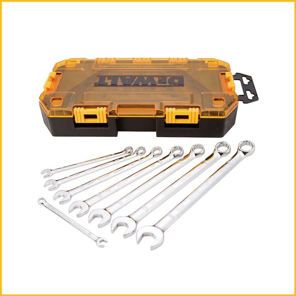 DEWALT DWMT73809 Tough Box Tool Kit Combination Wrench Set, 8 Piece