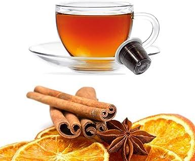 10 Capsulas Tisana Naranja y Canela Compatibles Nespresso - Café Kickkick: Amazon.es: Alimentación y bebidas