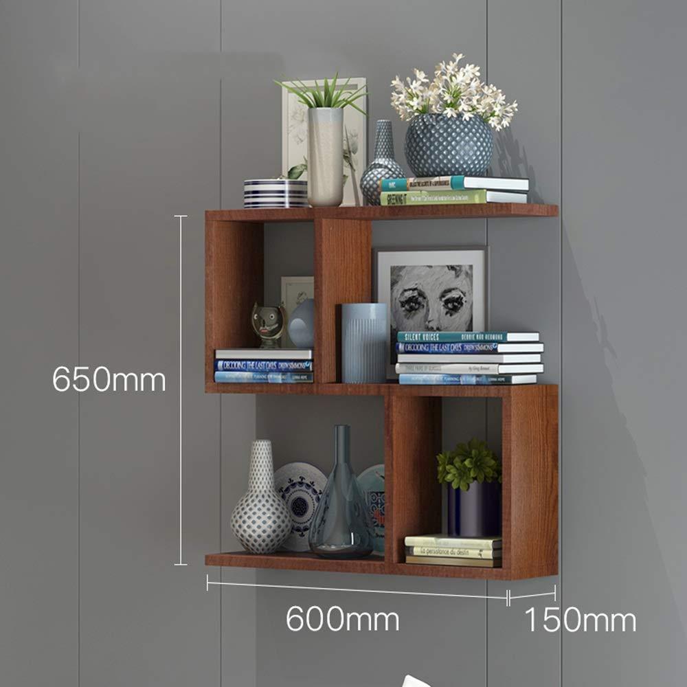 Redwood 601565cm Multi-Function Cabinet Bookshelf, Wall Shelf Wall Hanging Wall Cabinet Solid Wood partition (color   Redwood, Size   60  15  65cm)