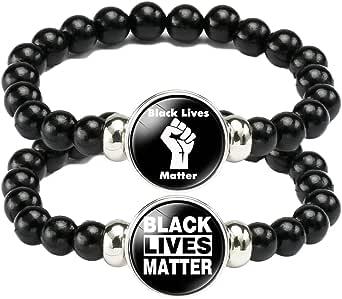 Stretch Bracelet 9.5 in. Black Lives Matter