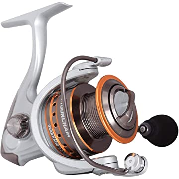 Mounchain Spinning Reel Ultra Light Weight Smooth Fishing Reels, Powerful Carbon Fiber Drag, Up to 25 Lbs/ 11.5 Kg Drag