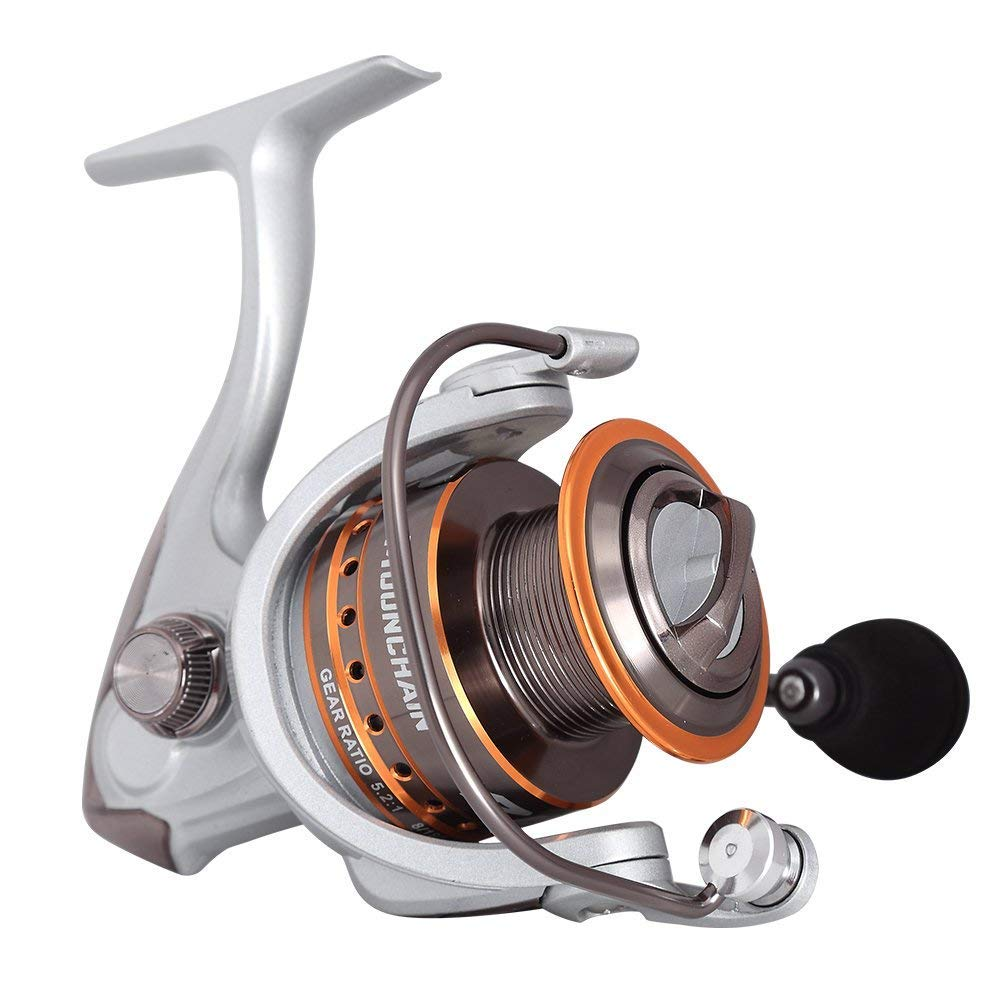 Mounchain Spinning Reel Ultra Light Weight Smooth Fishing Reels, Powerful Carbon Fiber Drag, Up to 25 Lbs 11.5 Kg Drag