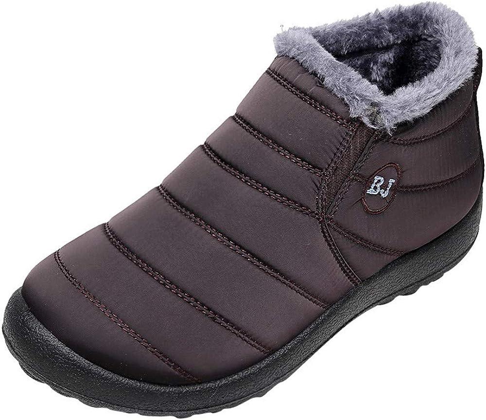 BaZhaHei Schuhe Mode Frauen und Männer Winter Einfarbig Warm Warm Stiefeletten Plus Samt Stiefel Flache Schneeschuhe Ankleboots Kurzstiefelette