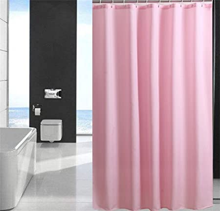 QWM Thicker Fashion Solid Pink Bathroom Shower Curtains LinerPolyester Waterproof And Mildew