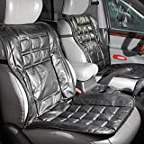 Leather Car Seat Orthopedic Cushion Back Support Universal Black