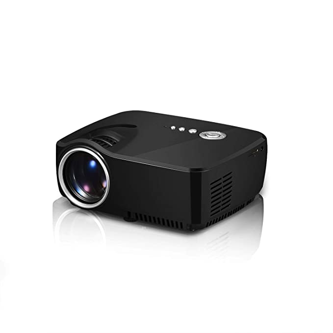 TQTQ GP70 LED Proyector 1200 Lúmenes 800480 Multimedia Beamer Mini ...