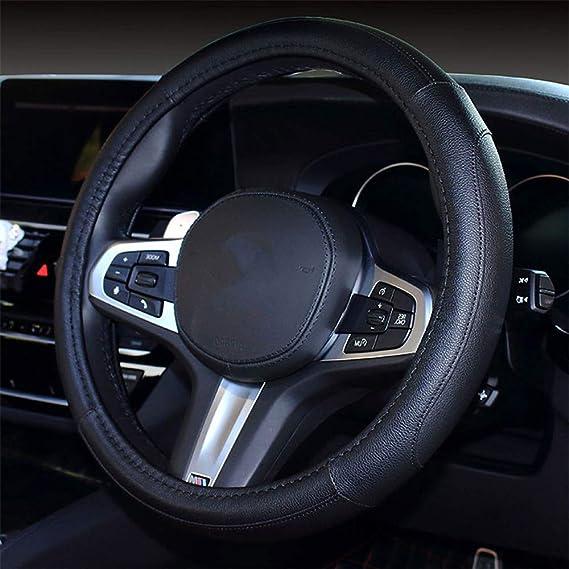 Forala Car Steering Wheel Cover Fur Bling Bling Rhinestone Luxurious Universal for Girls Lady Winter Warm White-B