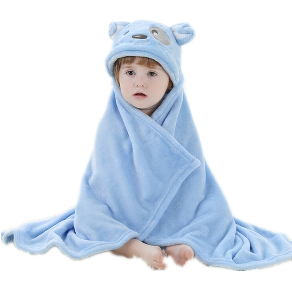 ZYZF Baby Adorable Constellation Collection Flannel Hoodies Robe Towel Blanket (Rose Rabbit)