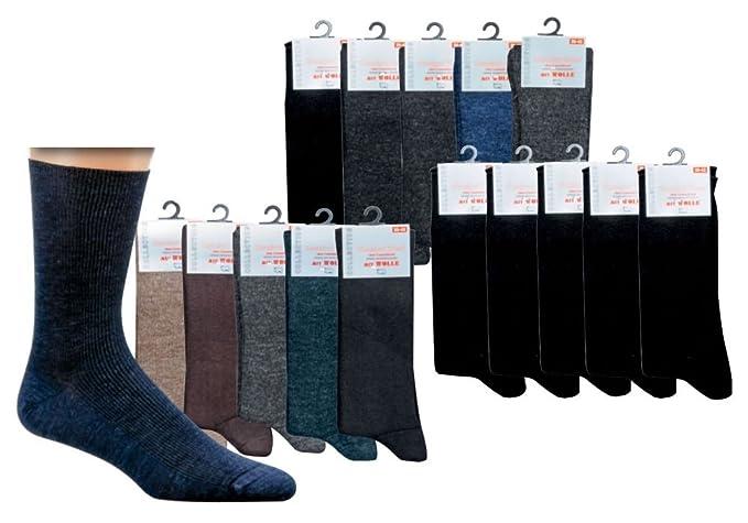 Socks Pur Calcetines Hombre de la Salud, con lana de oveja, Soft borde.