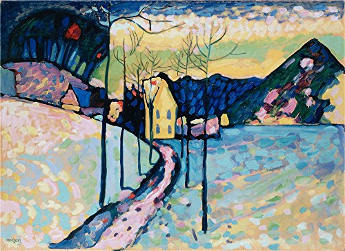 Oil Painting 'Kandinsky, Vasily_1909_Winter Landscape', 24 x 33 inch / 61 x 84 cm , on High Definition HD canvas prints is for Gifts And Hallway, Kitchen And Living Room - Zip Folio Around Agenda