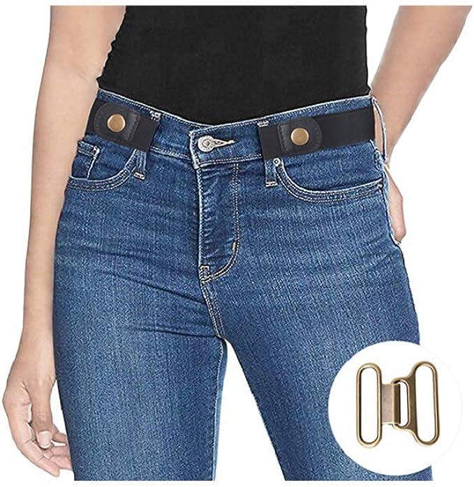Amazon.com: Cinturones elásticos invisibles sin hebilla ...