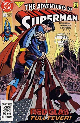 (Adventures of Superman #479 FN ; DC comic book)