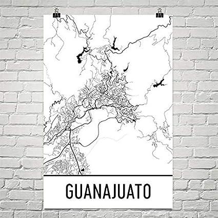 Mexico Map Guanajuato.Amazon Com Guanajuato Map Guanajuato Art Guanajuato Print