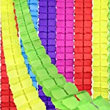 Toys : RUBFAC 6pcs Colored Four-Leaf Clover Garland Party Streamers Tissue Paper Hanging Flower Garland for Party Decoration