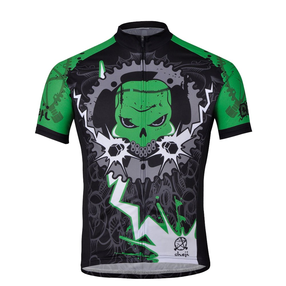 ac2f19293 Amazon.com   Lottaway Men Bold Gear Devil Bike Outdoor Cycling Jeysey Shirt  Athletic Tops   Sports   Outdoors