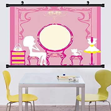 Amazon.com: Gzhihine Wall Scroll Girly Decor Collection Lady Sitting ...