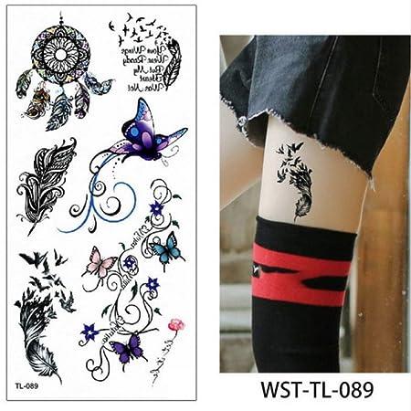 adgkitb 4 Piezas Hoja Mujer joyería de esternón Tatuaje Temporal ...