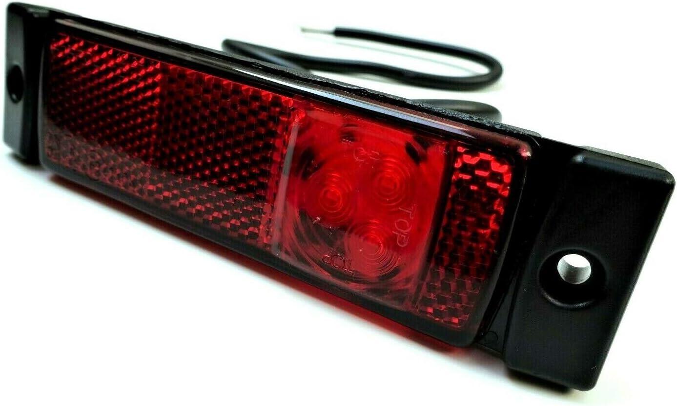 etc. caravanas tr/áilers luz de posici/ón para camiones remolques Luz de g/álibo LED de color rojo