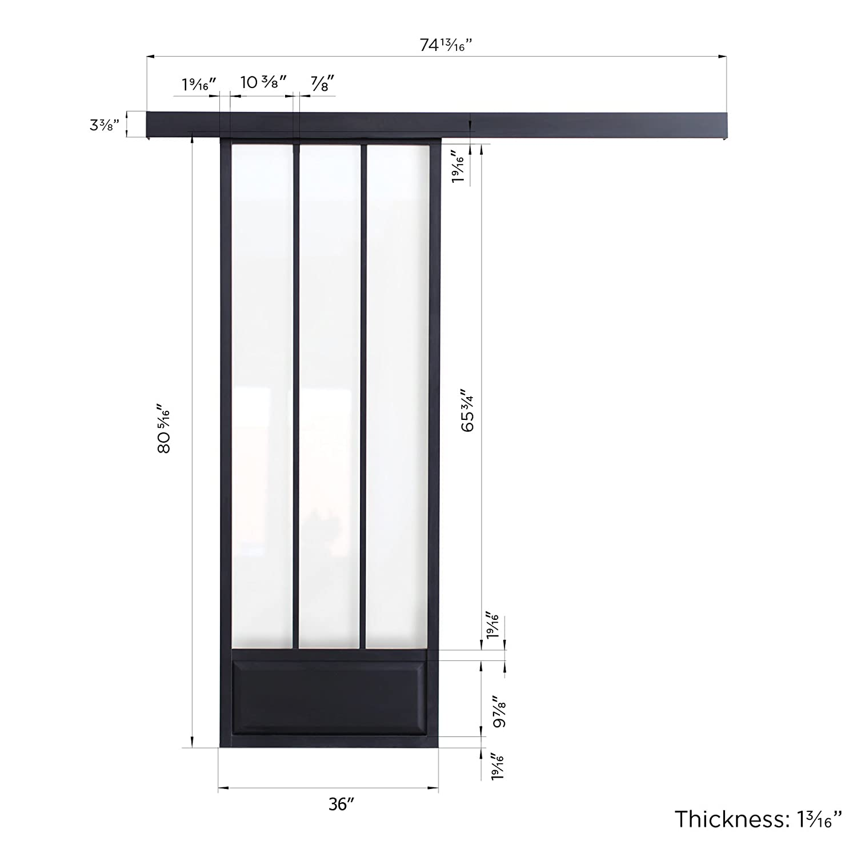 Maykke Pamplona Modern Aluminium Sliding Door With Tempered Glass