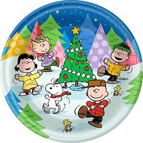 Hallmark Peanuts Peanuts Gang Christmas Dinner Paper Plates