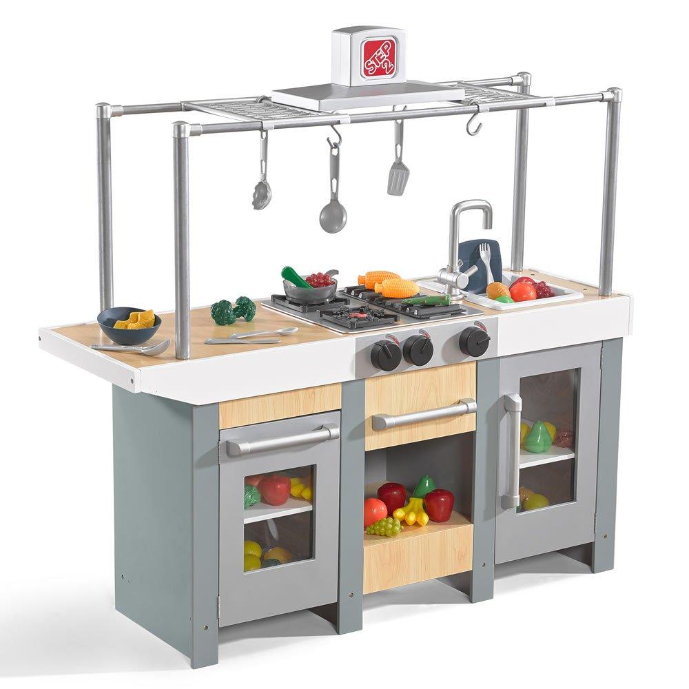 Step2 Uptown Urban Wood Kitchen & Island Play Kitchen