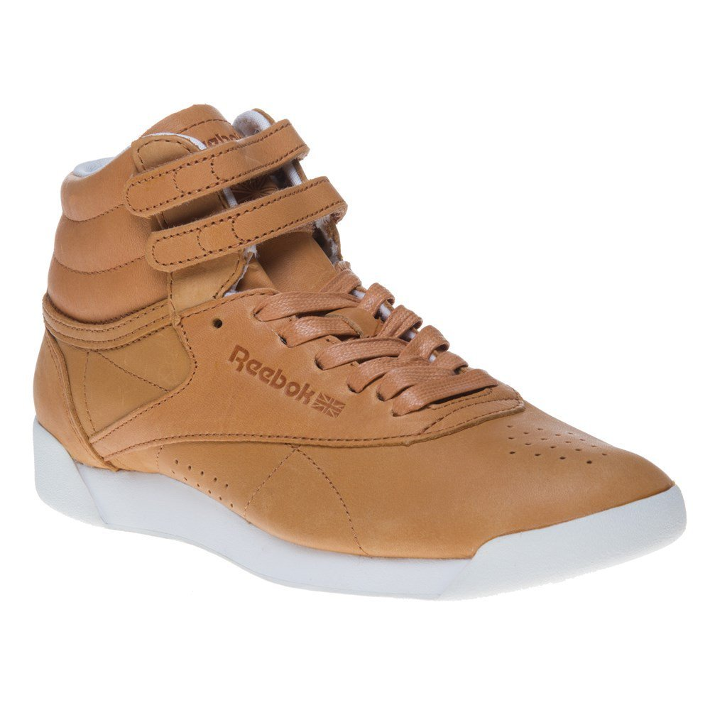 3e16956dcec84 Amazon.com: Reebok Freestyle Hi Face 35 Womens Sneakers Tan: Clothing