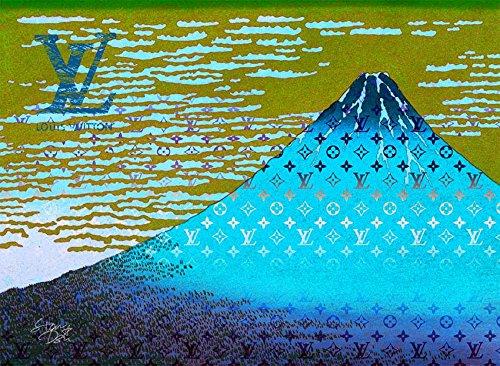 Mount Fuji 富士山 Louis Vuitton ポスター ポップアート #sh55 STAR DESIGN A1サイズ(594×841mm) カラー sh55d B071P3BR5R A1(594×841mm)|sh55d sh55d A1(594×841mm)