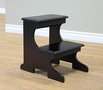 Frenchi Home Furnishing Step Stool Black Finish & Amazon.com: Frenchi Home Furnishing Step Stool Black Finish ... islam-shia.org