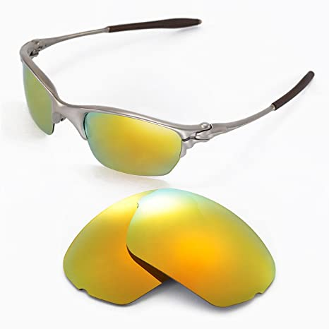 ca76e861017 Walleva Replacement Lenses for Oakley Half X Sunglasses - Multiple Options  Available (24K Gold Mirror