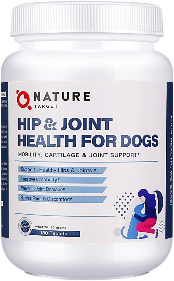 Glucosamine for Dogs Hip and Joint Supplement - Dog Joint Health Supplements with Glucosamine Chondroitin MSM, Turmeric Curcumin - Mobility Support for Pain Relief with Hyaluronic Acid, 180 Tablets