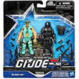 G.I. Joe, 50th Anniversary Marine Devistation Action Figure Set [Gung-Ho and Cobra Shadow Guard], 3.75 Inches