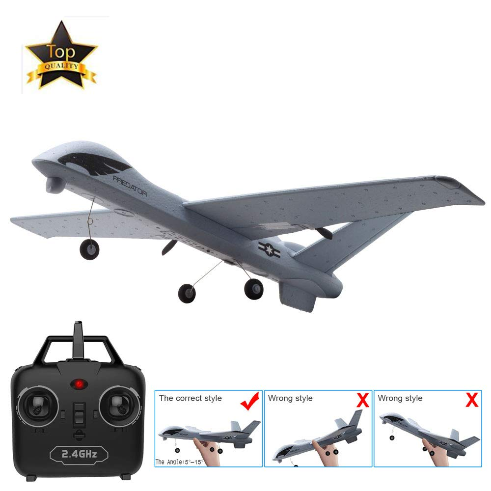 HUAXING RC Airplane Plane with 2MP HD Camera 20 Minutes Fligt Time Gliders with LED Hand Throwing Wingspan Foam Plane by HUAXING