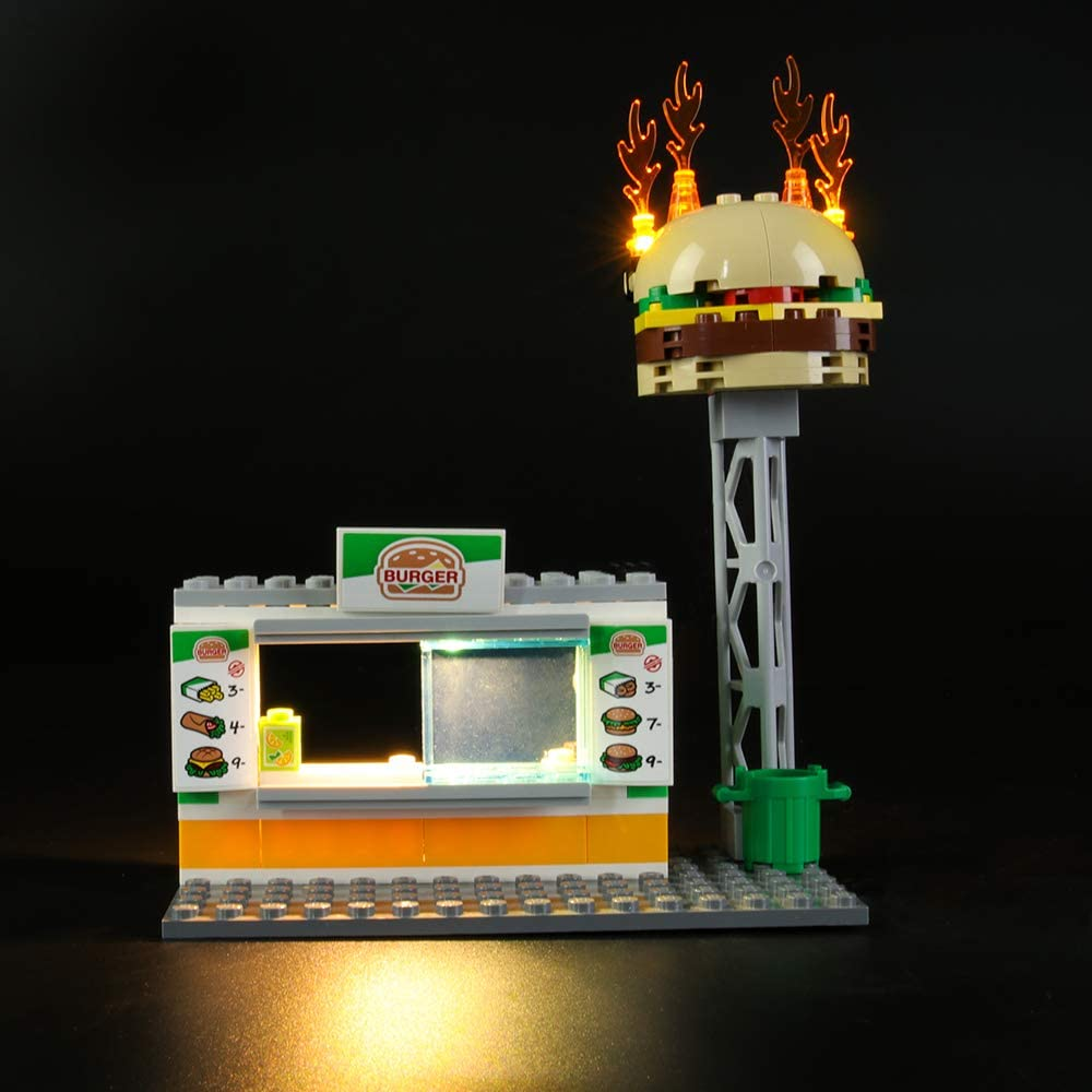 City Burger Bar Fire Rescue Led Light kit Compatible with Lego 60214 LIGHTAILING Light Set for Building Blocks Model NOT Included The Model
