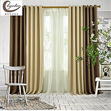 Generic Stitching Blackout, 1 Piece W120xH200cm, Pull Pleated Tape : Byetee  Fashion Curtain For
