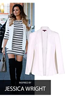 81c363397a4 Lazzboy Womens Blazer Jacket Coat Long Sleeve Notched Pure Colour ...