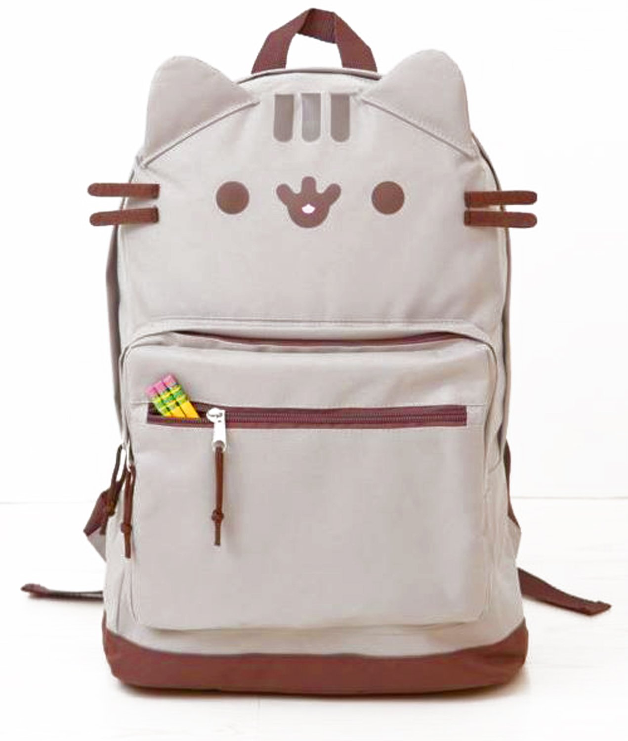 bbef8c2f2f Pusheen Cat Face Backpack – Gift For Pusheen Lover new - www ...