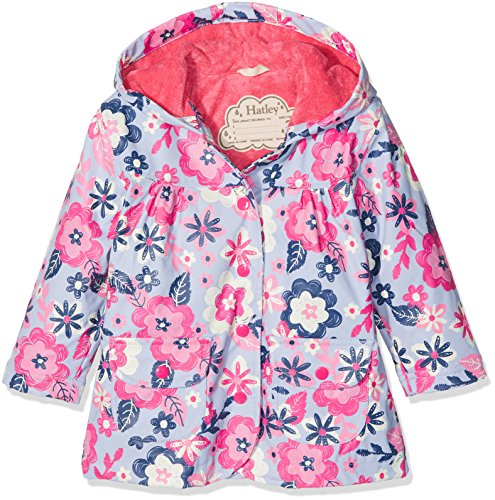 Price comparison product image Hatley Big Girls' Printed Raincoats, Wintery Blooms, 8