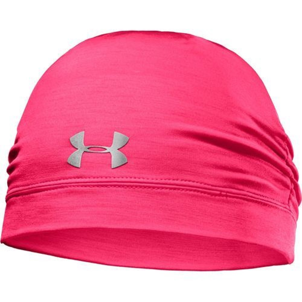 Under Armour Womens ColdGear Infrared Cozy Beanie, Neo Pulse/Silver/Bright Pink, One Size