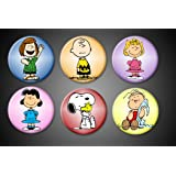 Peanuts character magnets Charlie Brown Snoopy and woodstock Linus Sally Lucy Peppermint Patty Fridge magnets locker whiteboard
