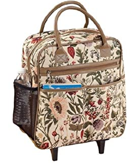 278a4acd34bc Amazon.com | Rose Tapestry Rolling Tote | Carry-Ons
