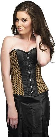 Disfraz de corsé de Cuero Negro para Halloween, Vestido gótico de ...