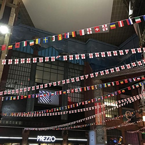 Indoor or Outdoor 32 World International Flags Giant Extra Large Bunting Multi Nation Street Party Banner Premium Quality Card Decorations