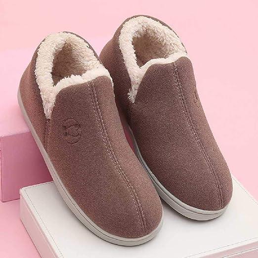 YXOPB Zapatos De Algodón Inicio Pareja Fregona De Algodón Zapatos De Algodón De Lana De Interior Zapatillas De ...